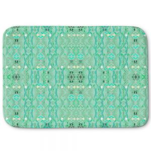 Decorative Bathroom Mats | Susie Kunzelman - Summers End Aqua | Pattern repetition