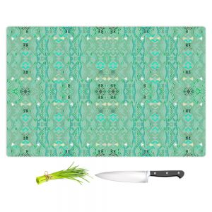 Artistic Kitchen Bar Cutting Boards | Susie Kunzelman - Summers End Aqua | Pattern repetition