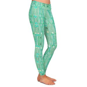 Casual Comfortable Leggings | Susie Kunzelman - Summers End Aqua | Pattern repetition