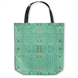 Unique Shoulder Bag Tote Bags   Susie Kunzelman - Summers End Aqua   Pattern repetition