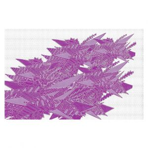 Decorative Floor Coverings   Susie Kunzelman - Stained Glass Pantone Bodacious   Abstract Colorful