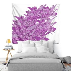 Artistic Wall Tapestry | Susie Kunzelman - Stained Glass Pantone Bodacious | Abstract Colorful