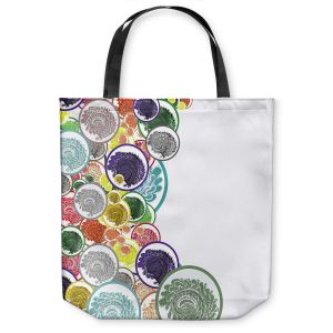 Unique Shoulder Bag Tote Bags | Susie Kunzelman - Taffy | Abstract Goemetric