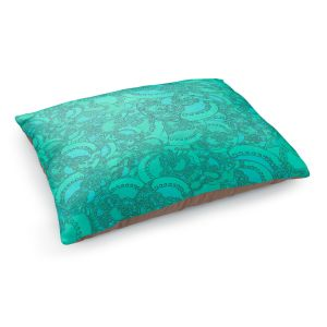 Decorative Dog Pet Beds | Susie Kunzelman - Tapestry Mixed Teal | Pattern repetition abstract