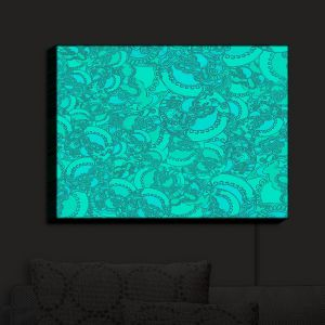 Nightlight Sconce Canvas Light | Susie Kunzelman - Tapestry Mixed Teal