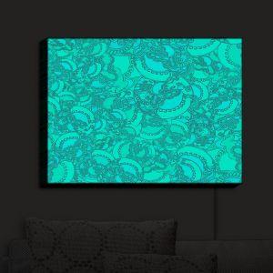 Nightlight Sconce Canvas Light | Susie Kunzelman - Tapestry Mixed Teal