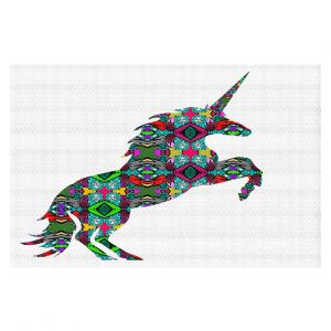 Decorative Floor Covering Mats | Susie Kunzelman - Unicorn | silhouette fantasy animal pattern