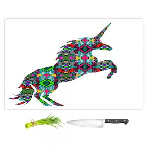 Artistic Kitchen Bar Cutting Boards | Susie Kunzelman - Unicorn | silhouette fantasy animal pattern