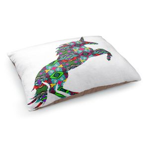 Decorative Dog Pet Beds | Susie Kunzelman - Unicorn | silhouette fantasy animal pattern