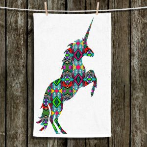Unique Bathroom Towels | Susie Kunzelman - Unicorn | silhouette fantasy animal pattern