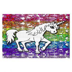 Decorative Floor Coverings | Susie Kunzelman - Unicorn Rainbow A