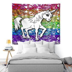 Artistic Wall Tapestry | Susie Kunzelman - Unicorn Rainbow A