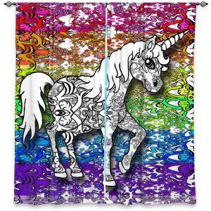 Decorative Window Treatments | Susie Kunzelman - Unicorn Rainbow B