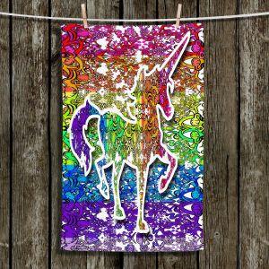 Unique Bathroom Towels   Susie Kunzelman - Unicorn Rainbow C