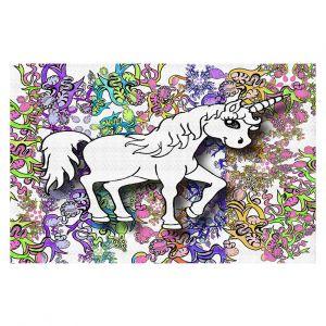 Decorative Floor Coverings | Susie Kunzelman - Unicorn Rainbow D