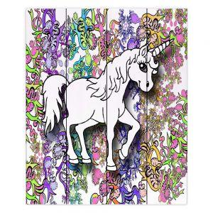 Decorative Wood Plank Wall Art | Susie Kunzelman - Unicorn Rainbow D