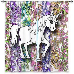 Decorative Window Treatments | Susie Kunzelman - Unicorn Rainbow D