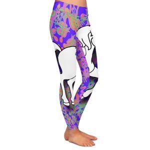 Casual Comfortable Leggings | Susie Kunzelman - Unicorn White Blue