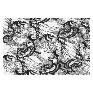 Decorative Floor Covering Mats | Susie Kunzelman - Whirlwind | wavy lines