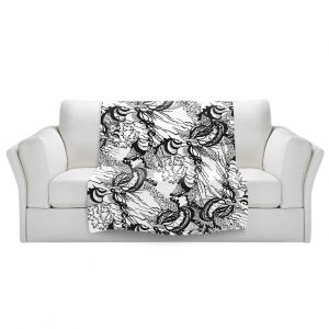 Artistic Sherpa Pile Blankets   Susie Kunzelman - Whirlwind   wavy lines