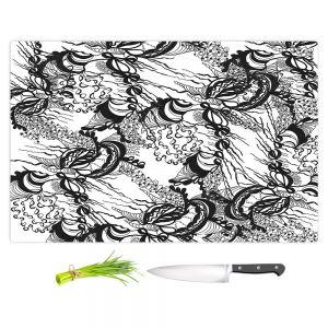 Artistic Kitchen Bar Cutting Boards | Susie Kunzelman - Whirlwind | wavy lines