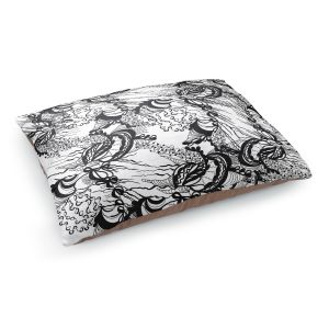 Decorative Dog Pet Beds | Susie Kunzelman - Whirlwind | wavy lines