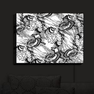 Nightlight Sconce Canvas Light | Susie Kunzelman - Whirlwind | wavy lines