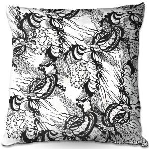 Decorative Outdoor Patio Pillow Cushion | Susie Kunzelman - Whirlwind | wavy lines