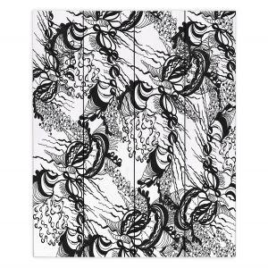 Decorative Wood Plank Wall Art | Susie Kunzelman - Whirlwind | wavy lines
