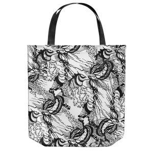 Unique Shoulder Bag Tote Bags | Susie Kunzelman - Whirlwind | wavy lines