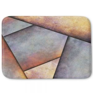 Unique Bath Mat Large from DiaNoche Designs by Sylvia Cook - Abstract Brown Grey