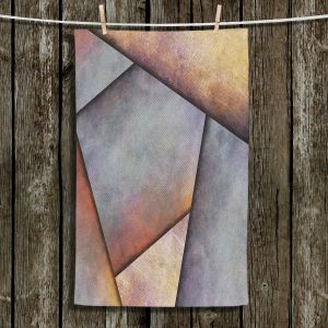 Unique Bathroom Towels | Sylvia Cook - Abstract Brown Grey | Slate Stone Shapes