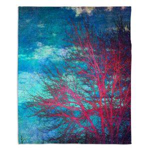 Decorative Fleece Throw Blankets | Sylvia Cook - Abstract Tree II