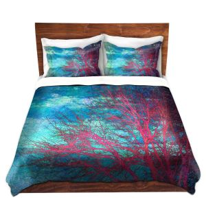 Artistic Duvet Covers and Shams Bedding | Sylvia Cook - Abstract Tree II