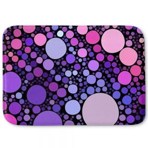 Decorative Bathroom Mats | Sylvia Cook - Cool Dots Orchid