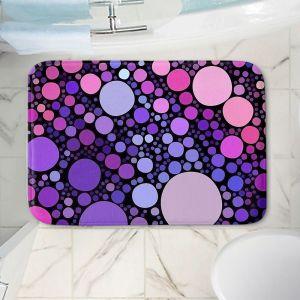 Decorative Bathroom Mats | Sylvia Cook - Cool Dots Orchid