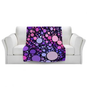 Artistic Sherpa Pile Blankets | Sylvia Cook Cool Dots Orchid