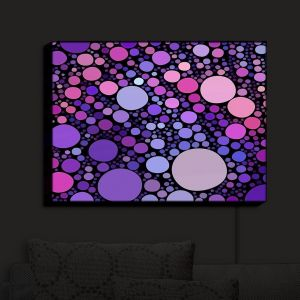 Nightlight Sconce Canvas Light | Sylvia Cook - Cool Dots Orchid