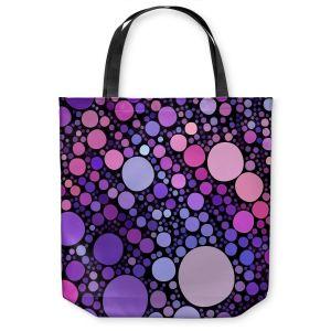 Unique Shoulder Bag Tote Bags | Sylvia Cook Cool Dots Orchid