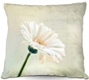 Decorative Outdoor Patio Pillow Cushion | Sylvia Cook - Daisy