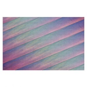 Decorative Floor Coverings | Sylvia Cook - Diagonal Stripes Purples | Lines Abstract Shapes Pattern