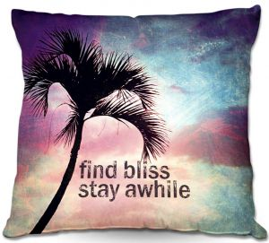 Decorative Outdoor Patio Pillow Cushion | Sylvia Cook - Find Bliss I