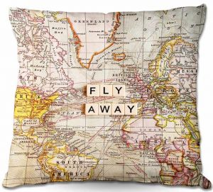 Decorative Outdoor Patio Pillow Cushion | Sylvia Cook - Fly Away I