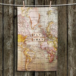 Unique Hanging Tea Towels | Sylvia Cook - Fly Away I | Map Inspiring Travel