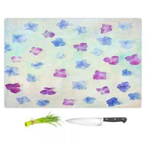 Artistic Kitchen Bar Cutting Boards | Sylvia Cook - Hydrangea Petals | still life simple pattern