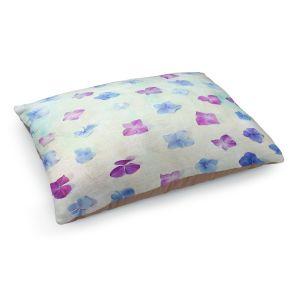 Decorative Dog Pet Beds | Sylvia Cook - Hydrangea Petals | still life simple pattern