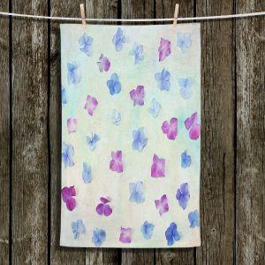 Unique Bathroom Towels | Sylvia Cook - Hydrangea Petals | still life simple pattern