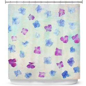 Premium Shower Curtains | Sylvia Cook - Hydrangea Petals | still life simple pattern