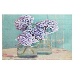 Decorative Floor Coverings | Sylvia Cook Hydrangeas in Mason Jars