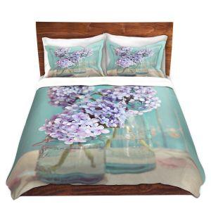 Artistic Duvet Covers and Shams Bedding   Sylvia Cook - Hydrangeas in Mason Jars
